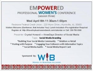 Empowered Professional Women's Mini Conference – Social Media