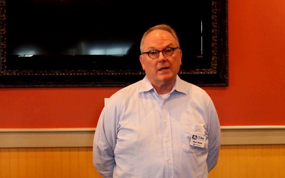 Glenn Stokes of The JT Ray Company